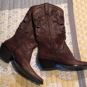 Matisse leather cutout cowboy boots